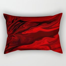 Blood Red Marble Rectangular Pillow