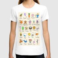 alphabet T-shirts featuring Alphabet by Lara Lockwood