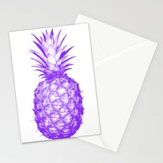 Purple Pineapple Stationery Cards