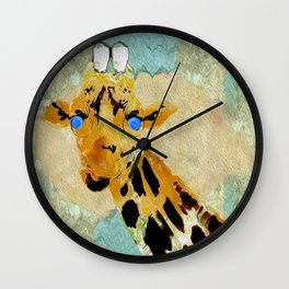 Giraffe Baby Pop Art Wall Clock