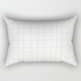 Modern minimalist ivory blush blue geometrical Rectangular Pillow