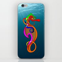 psychadelic iPhone & iPod Skins featuring Psychadelic Seahorse Knot by Knot Your World
