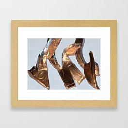 Two Headed Reversal Fox Framed Art Print