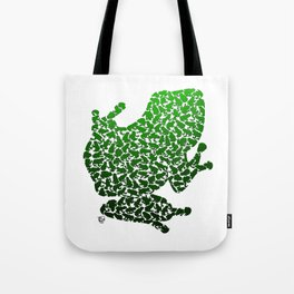 100 Poison Frogs - Green Tote Bag