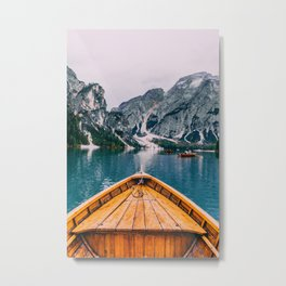 Canoe Mountains (Color) Metal Print