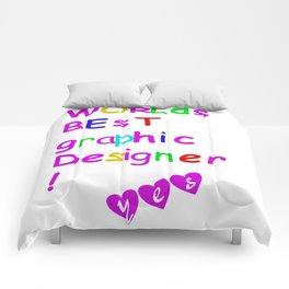 world's best graphic designer Comforters