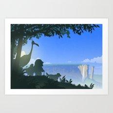 Paradise Falls Art Print