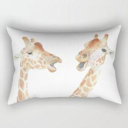Giraffes Watercolor Rectangular Pillow