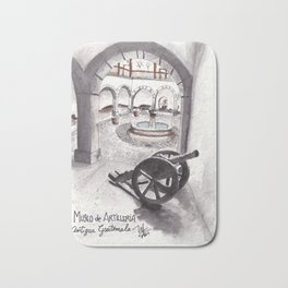 One museum at Antigua Guatemala Bath Mat