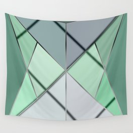 Mosaic tiled glass with black rays Wall Tapestry