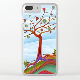 Hedgehogs fruit tree Clear iPhone Case