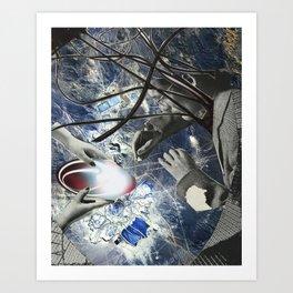 Blue Print Art Print