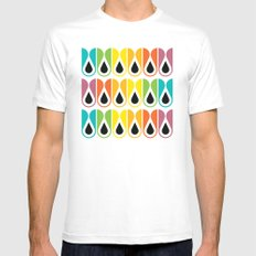 colorful loop pattern MEDIUM Mens Fitted Tee White