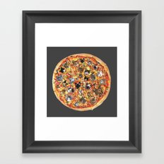 If the internet was a pizza... Framed Art Print