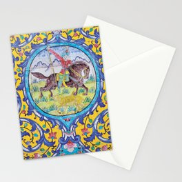 Iranian tiles Stationery Cards
