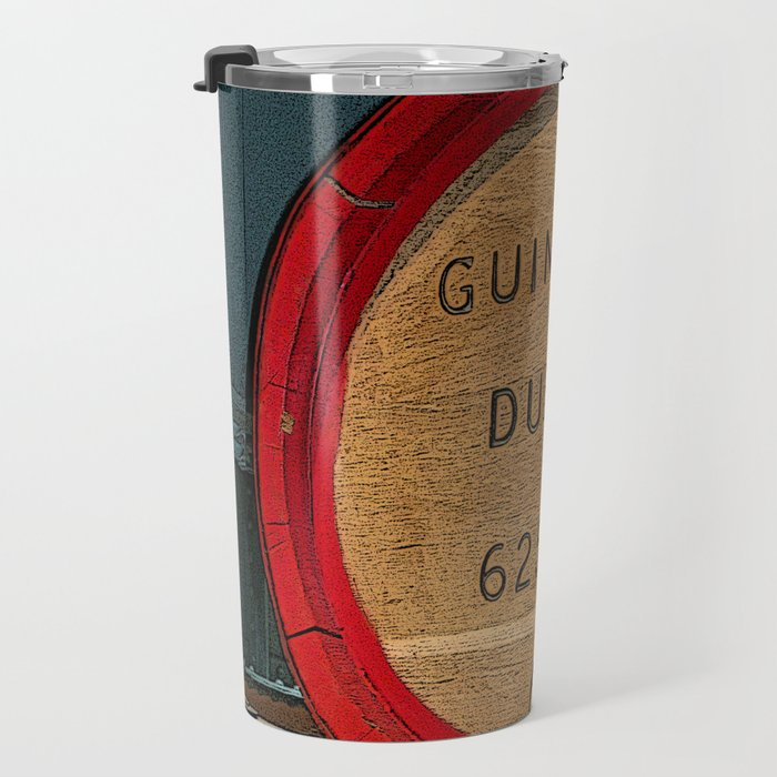 Guinness beer barrel - great man cave art! Travel Mug
