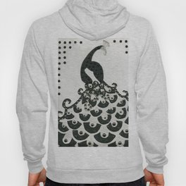 Peacock in Black Hoody