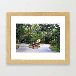 Bald Head Crossroads Framed Art Print