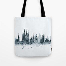 Barcelona Skyline Tote Bag