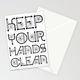 Keep Your Hands Clean Virus Awareness Design Stationery Cards