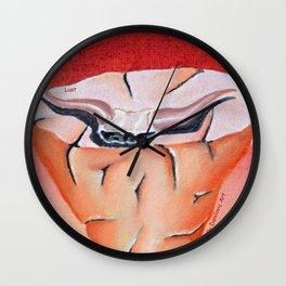 lust (seven deadly sins) Wall Clock