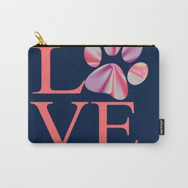Love is Four Letter Word - Tie Dye Carry-All Pouch