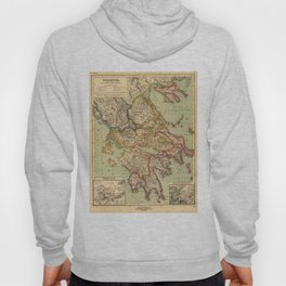 Vintage Map of Greece (1903) Hoody