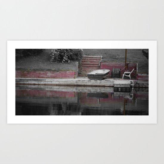 across red Art Print