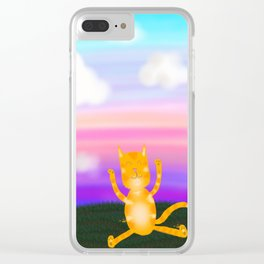 Happy Marmalade Cat Clear iPhone Case