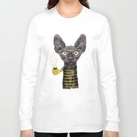 black cat Long Sleeve T-shirts featuring Black Cat by dogooder