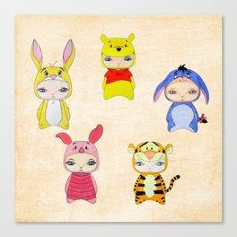 A Boy - Winnie and friends Canvas Print