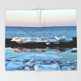 Ice Reflected Throw Blanket