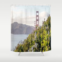 The Golden Gate Bridge in Spring Shower Curtain