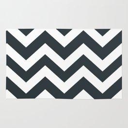 Gunmetal - grey color - Zigzag Chevron Pattern Rug