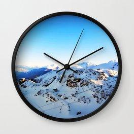 Shades of blue at the mountains Wall Clock