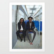 Les Parisiens - Vivien et Brian Art Print