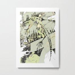 Abstract Lizard Metal Print