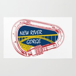 New River Gorge Climbing Carabiner Rug