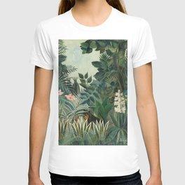 The Equatorial Jungle by Henri Rousseau, fine french art T-shirt