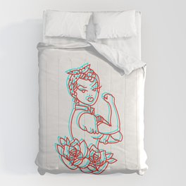 Feminism Classic Traditional tatto Comforters