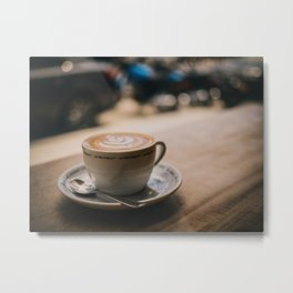Cappuccion in the Window Metal Print