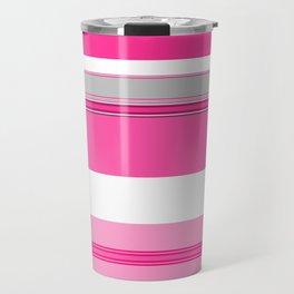 Shades of Pink and White II Travel Mug