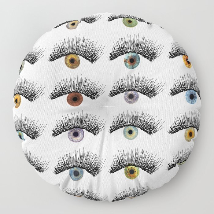 Hypnotic Eyes Floor Pillow