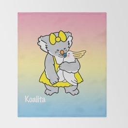 Koalita and friend Throw Blanket
