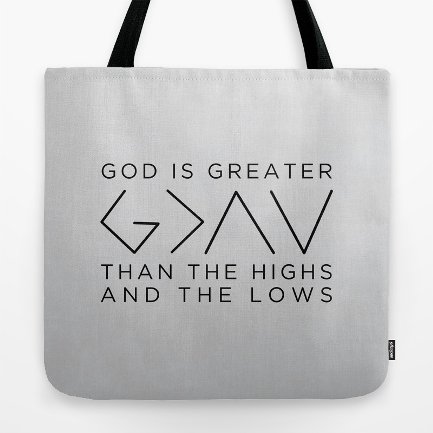 f514ecfdd42 Nick Jonas God Is Greater Than The Highs & The Lows Tote Bag by clkelley |  Society6