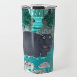 Pygmy Hippos in the Jungle Travel Mug