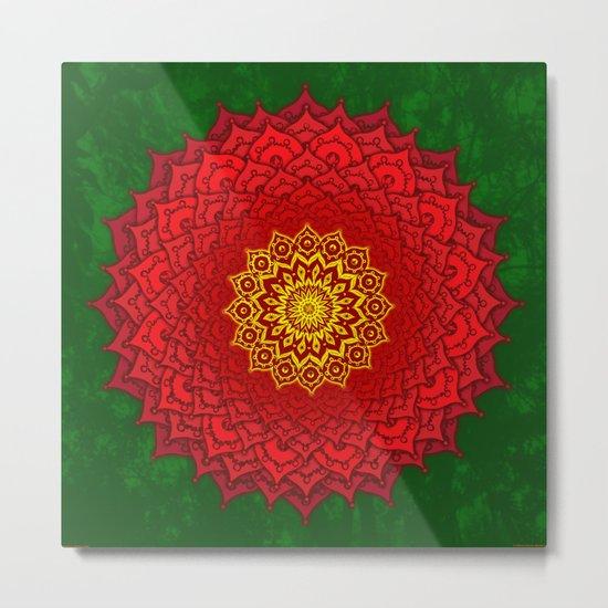 okshirahm rose mandala Metal Print