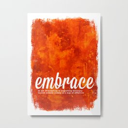 Orange Embrace - The Power of Color Metal Print