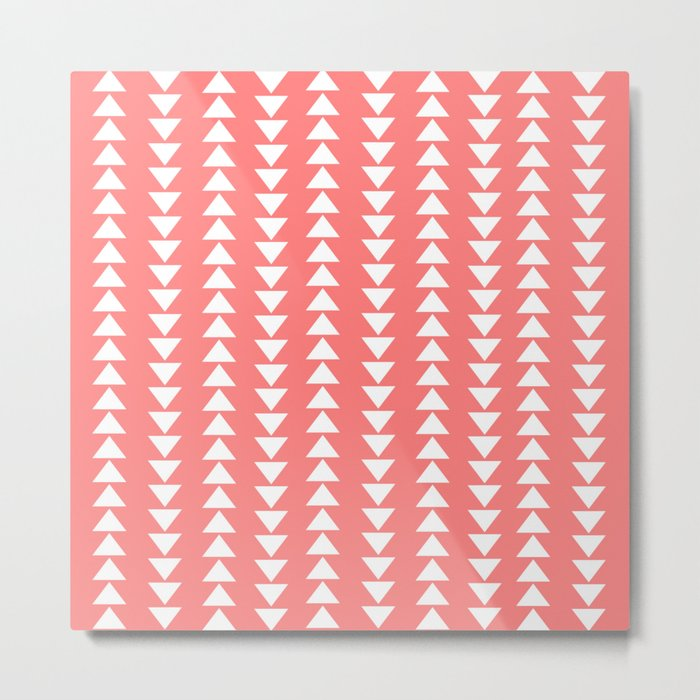 Tribal in Pink & White Metal Print