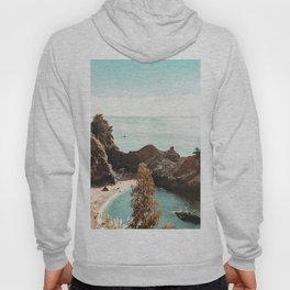 California Coast | Big Sur McWay Falls Coastal Camping Road Trip Tapestry Art Print Hoody